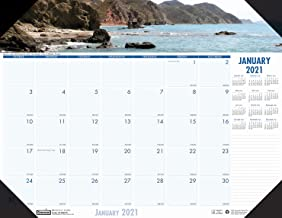 House of Doolittle 2021 Monthly Desk Pad Calendar, Earthscapes Coastlines, 22 x 17 Inches, January - December (HOD178-21)