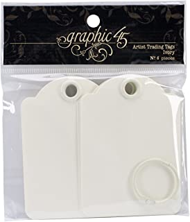 Graphic 45 Artist Trading Tags, Ivory