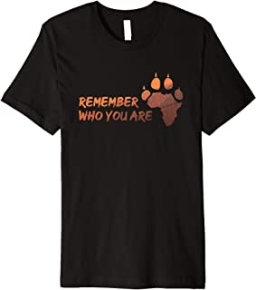 Remember Who You Are - Africa Love T-Shirt with Lion Paw