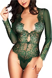 Best lace bodysuit long sleeve Reviews
