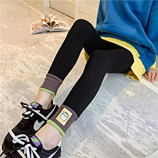 Leggings Thickened Plus Fleece Winter Cotton Pants One-Piece Trousers High Quality (Color : Black)