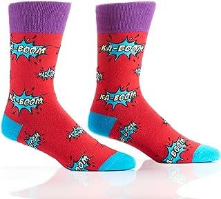 Yo Sox Sport Inspired - Funky Funky Men's Crew Socks for Dress or Casual Wear Size 7-12 for Dress or Casual Wear Size 7-12
