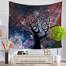 Forest Starry Tapestry Wall Hanging 3D Printing Forest Tapestry Night Sky Tapestry Wall Tapestry for Dorm Living Room Bedroom (59