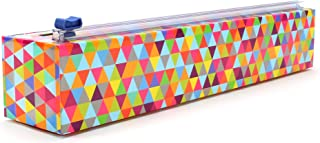 ChicWrap Triangle Refillable Plastic Wrap Dispenser withSlide Cutter and 250' of..