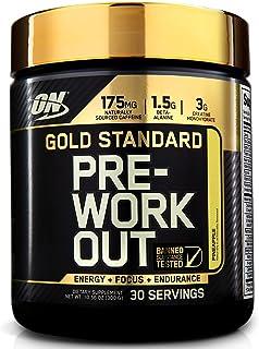 Optimum Nutrition Gold Standard 系列 健身前氮泵 膳食补充剂 含肌酸 丙氨酸 咖啡因 补充精力 菠萝味 30 份-