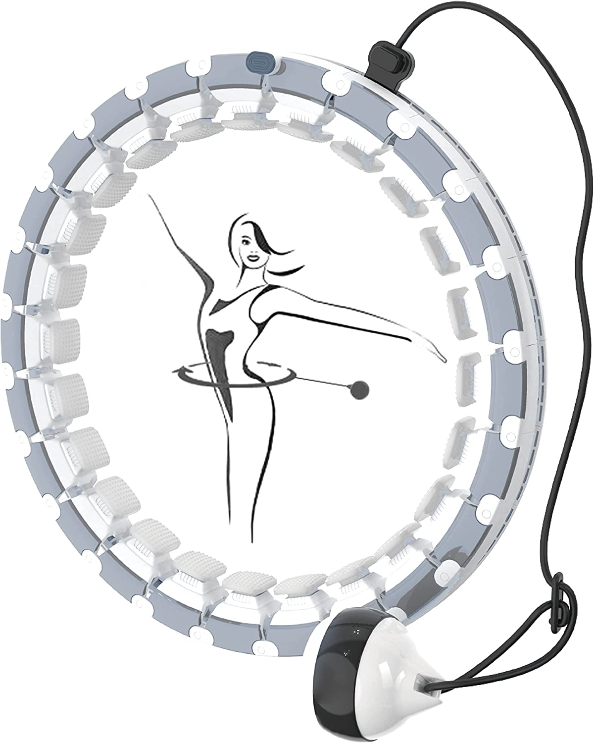 BALAN-O Smart Weighted Max Limited time trial price 77% OFF Hoola Fitness Hoop Adjustable Size with