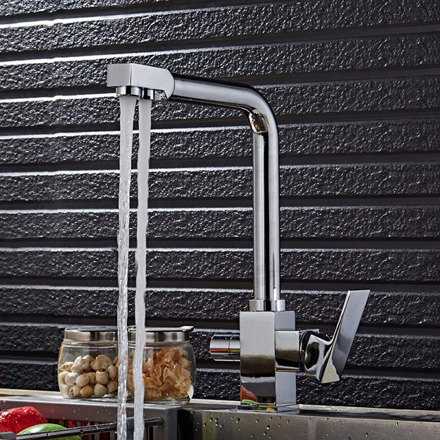 YHSGY Kitchen Taps Kitchen Swivel Hot and Cold Filter Water Faucet Luxury Chrome Finshed