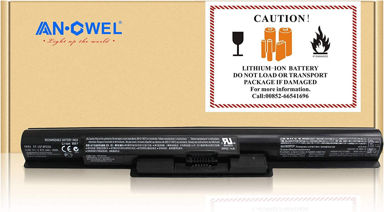 AN·GWEL 14.8V 2700mAh VGP-BPS35A Laptop Battery Sony VAIO for All items Manufacturer regenerated product free shipping