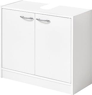 FMD Möbel Bristol A6Mueble bajo Lavabo, 63,7X 28,1X 55H CM, Blanco, Aglomerado