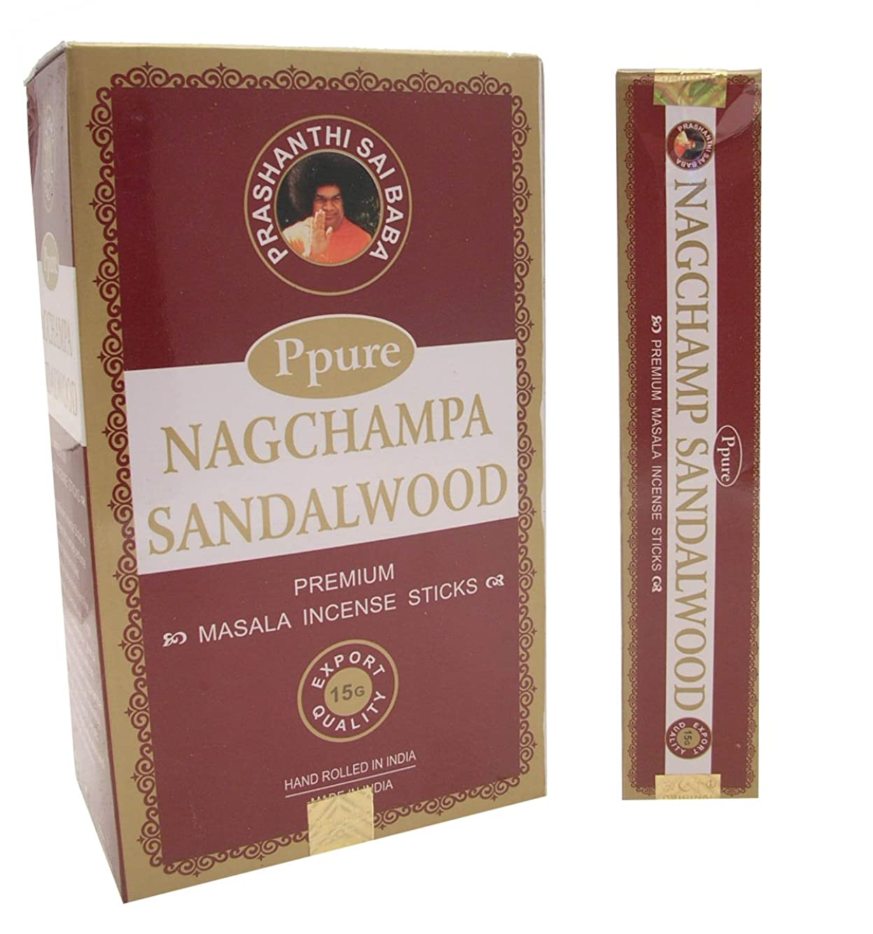 佐賀トラフィック高いPpure Nag ChampaプレミアムMasalaお香サンダルウッド