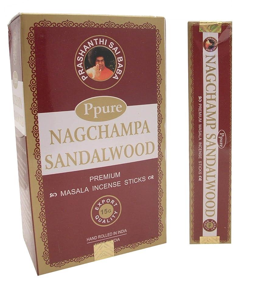 ナットチャート対角線Ppure Nag ChampaプレミアムMasalaお香サンダルウッド