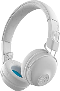 JLab Audio Studio Bluetooth Wireless On-Ear Headphones | 30+ Hour Bluetooth 5 Playtime | EQ3 Sound | Ultra-Plush Faux Leather & Cloud Foam Cushions | Track and Volume Controls | White