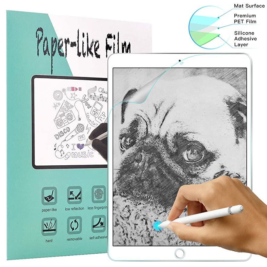 VORI Paperlike Screen Protector for iPad 9.7 inch (2018/2017) / iPad Pro 9.7 2016 / iPad Air/Air 2, Matte Film with Anti Glare/Scratch Resistant/High Touch Sensitivity/No Fingerprints jwzzeapyemuvt61