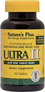 NaturesPlus Ultra II Multivitamin, Sustained Release - 90 Vegetarian Tablets - Daily Whole Food Vitamin & Mineral Suppleme...