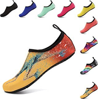 Water Sports Shoes Barefoot Quick-Dry Aqua Beach Swim Exercise Yoga Socks Slip-On for Men and Women