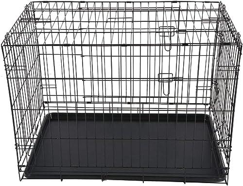 Funnyrunstore 36 Pulgadas Mascotas Plegables Jaula Exterior Interior Casa Perros Prácticos Animales de Gato Jaula de Entrenamiento Carrier Perros