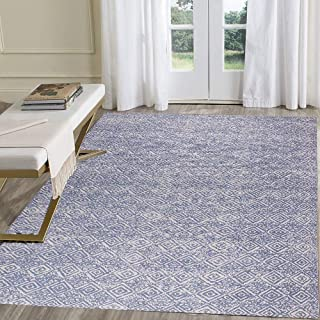 HEBE Cotton Area Rug Set 2 Piece 2'x3'+2'x4.2' Woven Cotton Area Rugs Runner Machine Washable Cotton Rug with Fringe Tasse...
