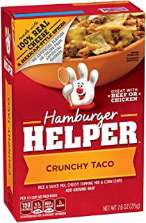 Betty Crocker Hamburger Helper, Crunchy Taco Hamburger Helper, 7.6 Oz Box