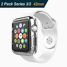 iVoler 2 Pezzi Cover per Apple Watch 42mm Series 3 / Series 2 Custodia, Case in Morbido Silicone di Gel AntiGraffio in TPU Ultra [Slim Thin] Protettiva - Trasparente
