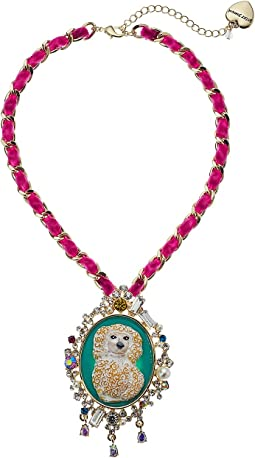 Betsey Johnson - Dog Pendant Necklace
