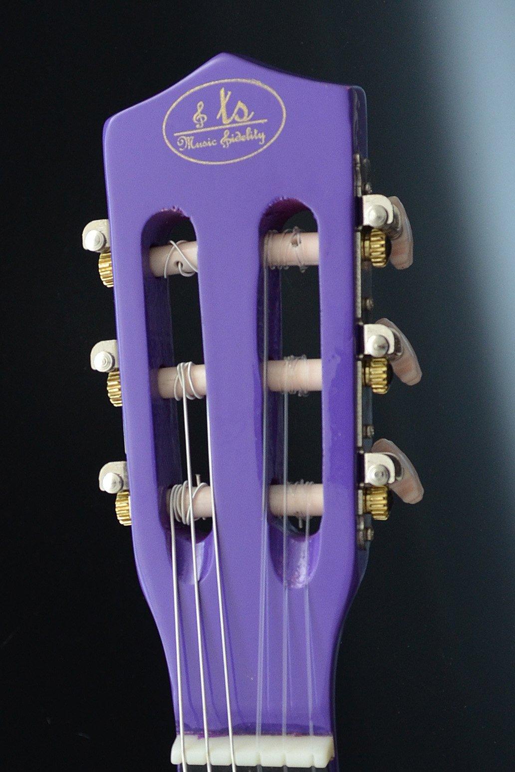 1/2 niños Guitarra acústica Guitarra Clásica en lila con corazón ...