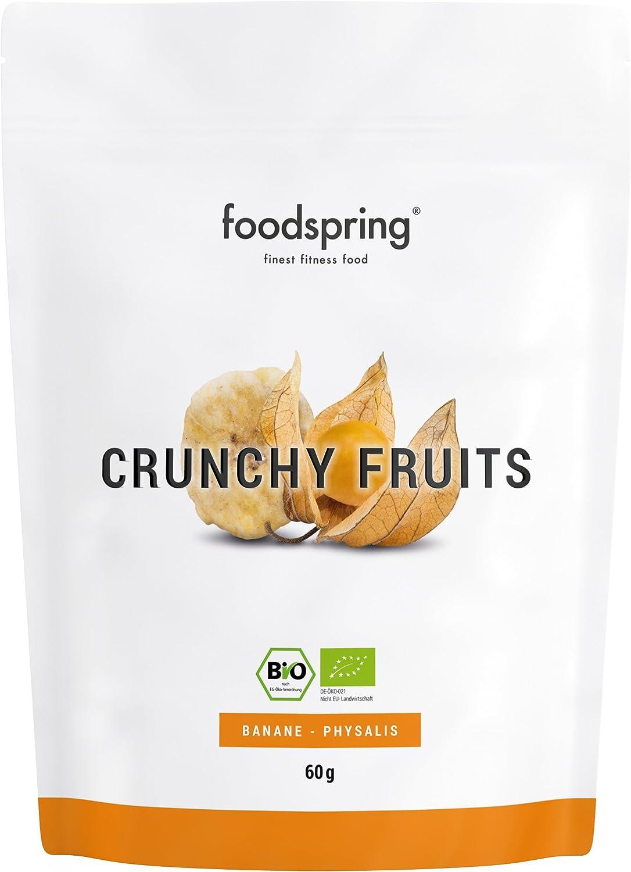 foodspring Crunchy Fruits, Orgánica Plátano-aguaymanto, 60g ...