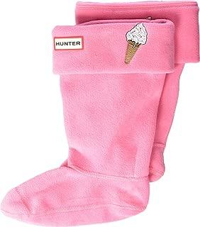 Hunter Kids Unisex Cuff Boot Sock (Toddler/Little Kid/Big Kid) Arcade Pink Large