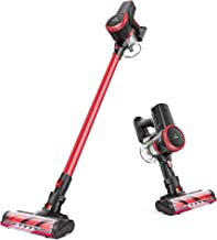 MOOSOO Cordless Vacuum, 23Kpa 4-in-1 Stick Vacuum Cleaner Brushless Motor Ultra-Quiet with Upgraded LED Floor Head for Har...
