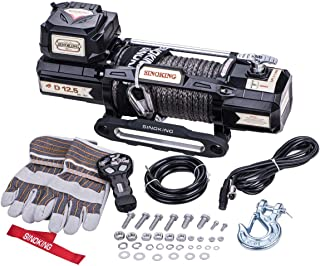 Sinoking 12VDC 12500LB/5670kg Electric Winch, Off-Road Winch with 2/5
