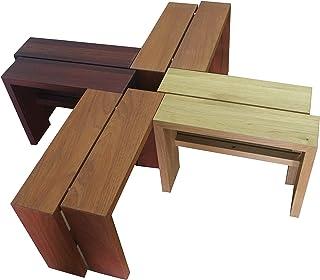 "Mesita-banco modular""Mind games"" de madera"