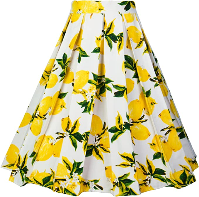 Vintage Skirts | Retro, Pencil, Swing, Boho Dressever Womens Vintage A-line Printed Pleated Flared Midi Skirts $20.99 AT vintagedancer.com