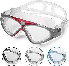 Zwembril voor volwassenen, anti-condens, zonder lekkage, duidelijk zicht, uv-bescherming, 180 graden zicht, eenvoudig aan ...