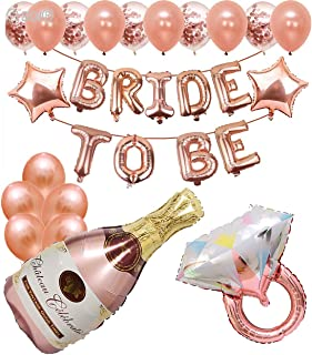 SOI Rose Gold Theme Bride to Be Complete Decoration Combo for Bride Bachelorette Party Hen Party (Rose Gold)