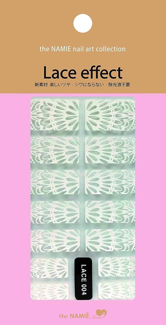 最愛のカンガルースツールナミエネイルアートコレクション レースエフェクト LACE 004 (14チップ)