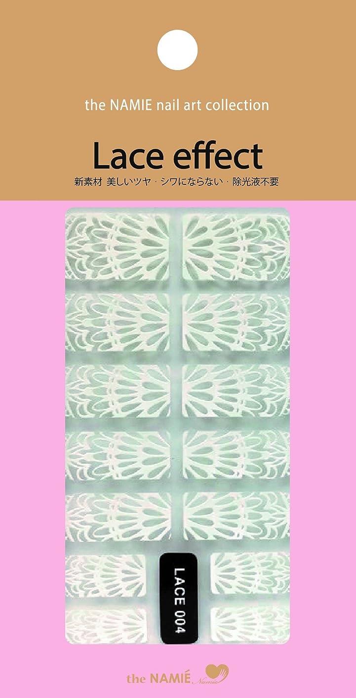 時間掃くミュウミュウナミエネイルアートコレクション レースエフェクト LACE 004 (14チップ)