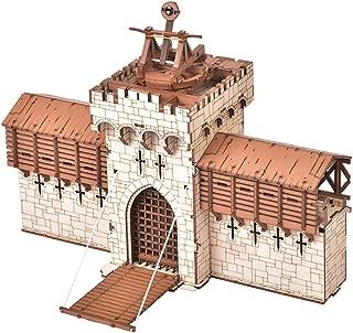 The Barbican Castle Gatehouse Architectural Wooden Model Kit - 28mm Scale 3D Puzzle