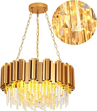 Modern Chandeliers Crystal Dining Room Gold Crystal Chandelier Light Bedroom Chandelier Living Room Chandelier Gold Round Mod