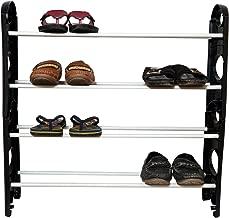 RMA Handicrafts Plastic Shoe Rack (Black)