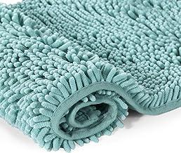 Bath Mat Rugs Anti-slip | Bathroom Mat | Chenille Bathroom Rug | Extra Soft and Absorbent Shaggy Rags | Non-slip Rubber | ...
