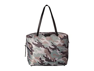 Rebecca Minkoff Washed Nylon Tote (Camo Print) Tote Handbags