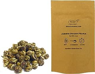 Beantown Tea & Spices - Top Grade Jasmine Dragon Pearls. Premium Hand-rolled Green Tea. 100% Natural. High In Antioxidants. (4 Ounces)