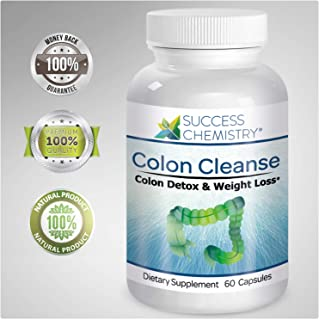 Colon Cleanse & Natural Body Detox - Weight Loss & Increased Energy Levels. Removes Toxins. Relieve Bloating. Extra Strength. Non-GMO   by Success Chemistry®