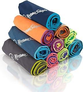 NirvanaShape ® DAS Reise-Handtuch für Backpacker, Urlauber & Traveller aus Microfaser  kompakt, leicht, schnelltrocknend  ...
