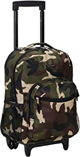 Rockland Luggage 17 Inch Rolling Backpack, Camouflage, Medium