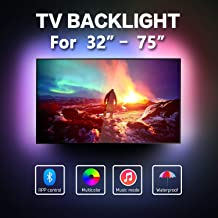 16.4ft LED Strip Lights for 32-75 inch TV,Waterproof RGB USB Powered TV Led Backlight with APP Control,TV Led Backlight Kit for Flat Screen TV TV,PC,CAR