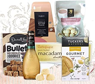 """Gourmet Favourites Gift Hamper"" for Him & Her - UK and Australian Made Food Gifts with Macadamia Butter Shortbread, Choco..."