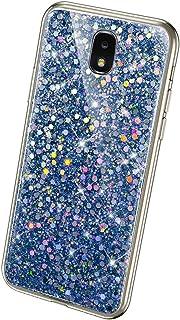 QPOLLY Cover Brillantini Compatibile con Samsung Galaxy J3 2018, Bling Glitter Scintillante Trasparente Custodia Morbida S...