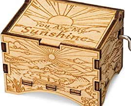 TheLaser'sEdge, You are My Sunshine, Personalizable Music Box, Laser Engraved Birch Wood (Artistic Standard)