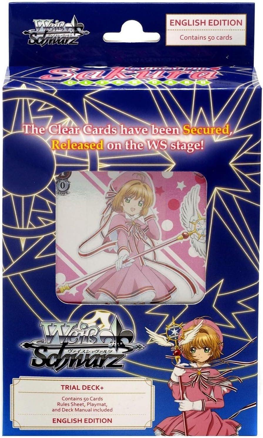 Weiss Schwarz 5 ☆ popular Cardcaptor Sakura Clear Gorgeous Trial Card Plus Deck