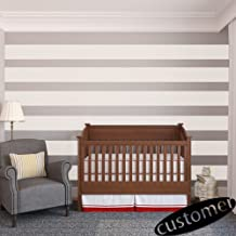 Vinyl Wall Stripes Decal Stripes Wall Sticker Wall Graphic Mural Custom Decals Home Art Decoration White